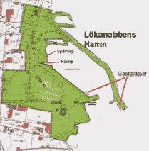 Karta Lökanabbens hamn